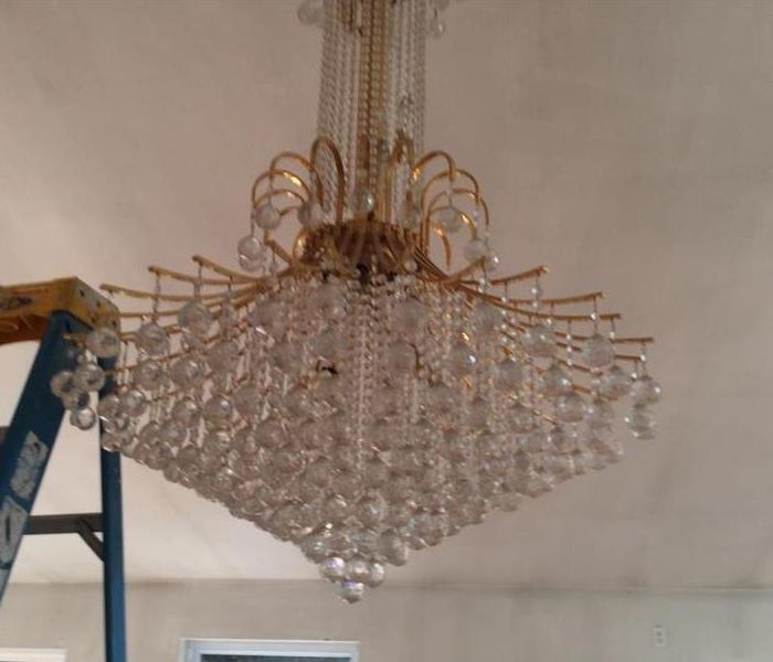 Chandelier Cleaning Before
